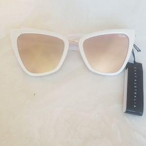 Quay JLO Reina white sunglasses